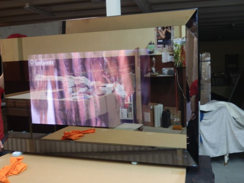 TV espelhada,TV mirror,Led espelhado,