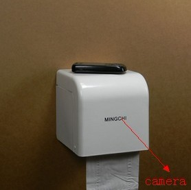 Kajoin 1280X960 Toilet roll box Hidden Camera With Motion Detection and Remote Control Function 32GB