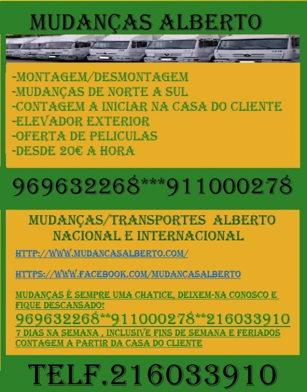 MUDAN�AS ALBERTO DE NORTE A SUL 216033910